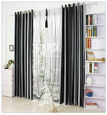 Vertical Striped Curtains Uk by Black And White Vertical Stripe Window Blackout Curtains For