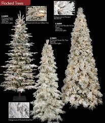Pre Lit Flocked Christmas Tree by Frosted Slim Christmas Tree Artificial Flocked Christmas Trees