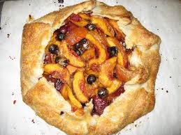 Doughadear Open Faced Peach Tart