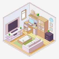 isometrische komposition im wohnzimmer stil 1266007