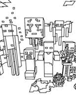 Minecraft Coloring Pages Featuring Steve Creepers Ender Dragon Zombies And Other Popular Characters