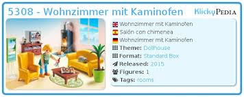 playmobil set 5308 wohnzimmer mit kaminofen klickypedia