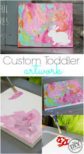 Easy Custom Toddler Artwork Worthy Of Any Fireplace Or Wall Gallery A Great Way To