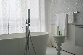 white mosaic tile bathroom contemporary with bathroom tile bisazza