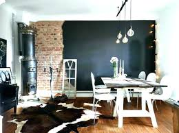 Brick Wall In Dining Room Accent Black