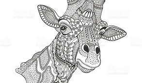 Giraffe Colouring Pages For Adults Get This Coloring Zentangle Art 88912