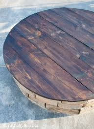 Diy Wooden Table Top by Diy Fire Pit Table Top The Lilypad Cottage