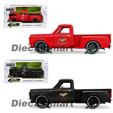 100 Stepside Trucks 1969 Chevrolet C10 Pickup Truck Matt Black Garage Nuts 124
