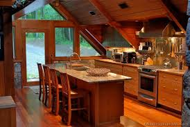wood cabin kitchen with vaulted ceilings 2 of 2 kitchen design