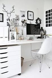 desk room decor white computer interior image 1649