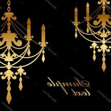 Gold Chandelier Clip Art Depositphotos 35158667 Vector Black Background With Simple