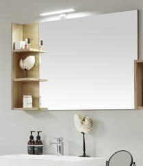 badezimmer spiegel one in eiche asteiche badmöbel 104 x 68 cm wandspiegel mit ablage