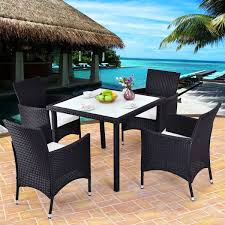 Costway 5PCS Outdoor Patio Black Rattan Table Chair Furniture Set With Seat  Cushions Maze Rattan Kingston Corner Sofa Ding Set With Rising Table 2 Seater Egg Chair Bistro In Brown Garden Fniture Outdoor Rattan Wicker Conservatory Outdoor Garden Fniture Patio Cube Table Chair Set 468 Seater Yakoe 8 Chairs With Rain Cover Black Round Chester Hammock 5 Pcs Cushioned Wicker Patio Lawn Cversation 10 Seat Cube Ding Set Modern Coffee And Tea Table Chairs Flower Rattan 6 Seat La Grey Ice Bucket Ratan 36 Jolly Plastic Philippines Small 4 Chocolate Cream Ideal