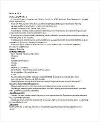 Retail Banking Manager Resume
