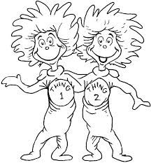 Thing 1 And 2 Coloring Page