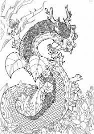 Coloring Page Flowery Dragon Free To Print