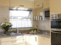 Efficiency Kitchen Work With Corner Sink