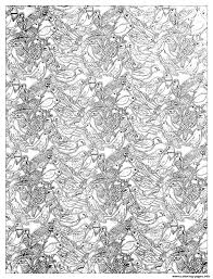 Adult Plenty Birds Complex Coloring Pages Print Download