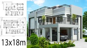 100 Home Designing Photos Design Plan 13x18m With 5 Bedrooms Ideas