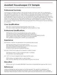 Housekeeping Description For Resume Housekeeper Hospital Job