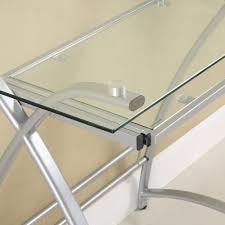 amazon com walker edison premium soreno glass corner computer
