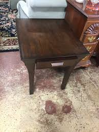 Pair of Walnut End Tables by Hammary pany
