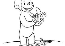 Monkey Coloring Pages Curious George Coloring4free
