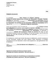 bureau d une association exemple de lettre gratuit de délégation pouvoirs donnée par