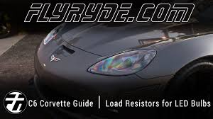 how to chevy c6 corvette load resistors install for led bulbs