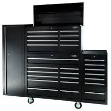 Buy Maxim 28 Drawer Combo Black Tool Box Locker Side Cabinet 76 Inch ...