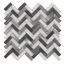 Thinset For Glass Mosaic Tile by Elida Ceramica Moon Silver Mixed Material Glass And Metal Mosaic