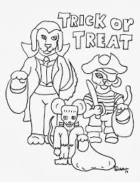 Scary Halloween Coloring Pages To Print by Trick Or Treat Coloring Pages Getcoloringpages Com
