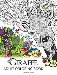 Giraffe Adult Coloring Book Designs With Henna Paisley And Mandala Style Patterns Animal