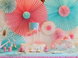 Paper Rosette Backdrop Used To Decorate Home Image Via Design Dazzle