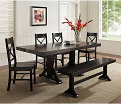 Image Of Contemporary Black Dining Table Set