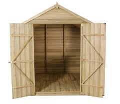 7x7 Shed Base Kit by 7 X 7 Overlap Pressure Treated Apex Shed With Double Doors