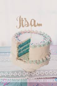 Gender Reveal Cake Its A Boy Topper Purchased From CouronneBoutique