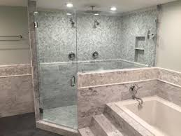 emerald city tile and llc shower in carrara marble 6 x 12