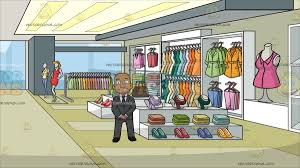 A Confident Black Bald Guy At Clothing Store For Women