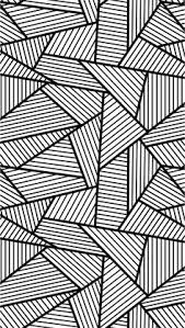 Free Coloring Page Adult Triangles Traits Anti Stress With Big Tangled And Striped