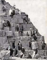 Huckleberry Railroad Halloween by People Climbing The Great Pyramid C 1880 Via Reddit U2013 History