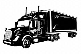 Icon Of Truck, Semi Truck, Vector ~ Illustrations ~ Creative Market