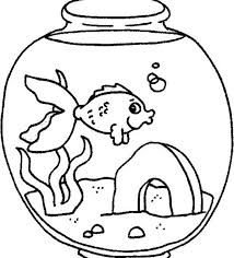 A Fish Feeling Lonely In Tank Coloring Page