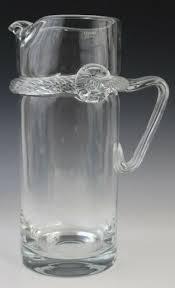 100 Poland Glass Details About Signed Krosno Studio Art Applied Handle 105 Martini Pitcher