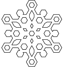 Snowflake Coloring Pages Free Printable For Kids Book