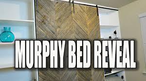 MODERN RUSTIC DIY MURPHY BED REVEAL