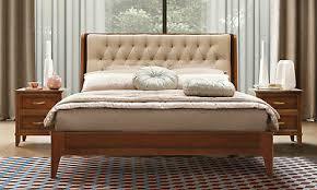 schlafzimmer set nussbaum massiv holzfurnier polsterkopfteil italienische möbel
