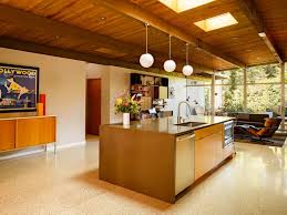 View In Gallery Terrazzo Tile A Warm Toned Modern Kitchen