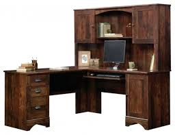 desk sauder harbor view computer with hutch antiqued paint for