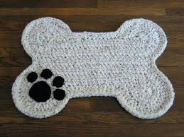 Dog Bowl Mat Mats Crochet Pattern Bone Pet Food Floor – bowl